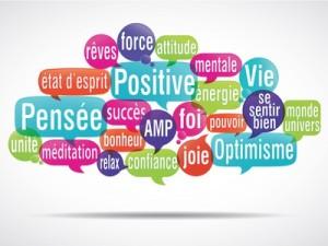 nuage de mot de pensées positives relaxation energie