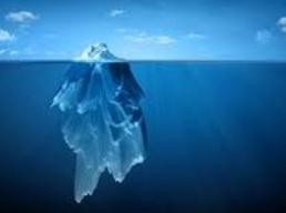 mer iceberg ciel bleu