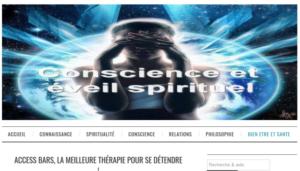 article sur access bars dans conscience et eveil spirituel